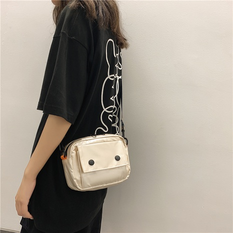 wholesale simple gloosy messenger bag nihaojewelry  NHLH390508's discount tags