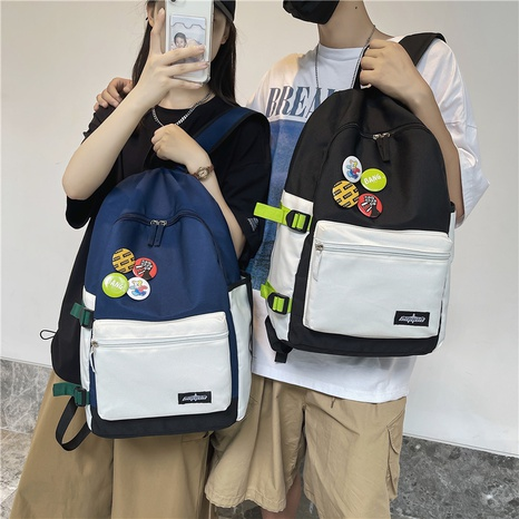 wholesale large capacity hit color badge backpack nihaojewelry  NHGA390515's discount tags