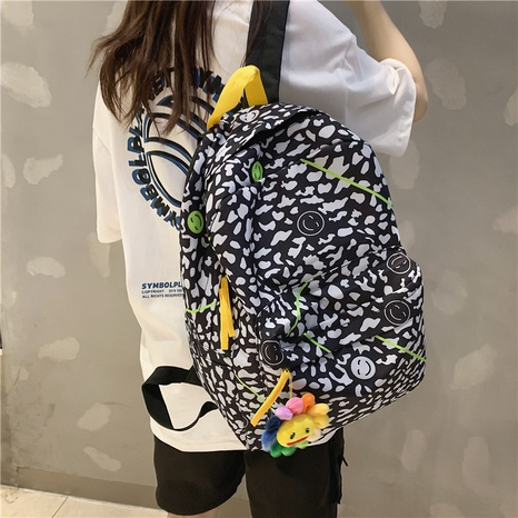 wholesale black white polka dots sunflower pendant backpack nihaojewelry  NHGA390516's discount tags