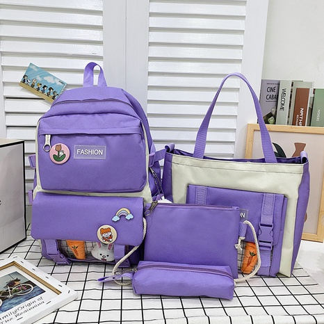 wholesale cartoon pattern large-capacity handbag backpack messenger bag four-piece set nihaojewelry  NHGA390522's discount tags