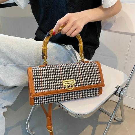 wholesale plaid pattern one-shoulder messenger handbag nihaojewelry  NHGA390529's discount tags