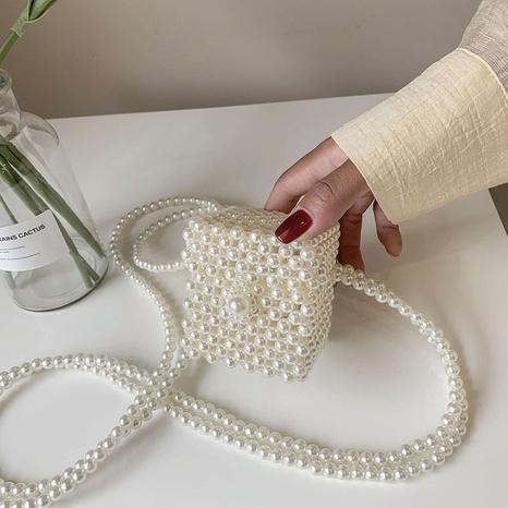 wholesale pearl braided double chain diagonal bag nihaojewelry  NHGA390532's discount tags