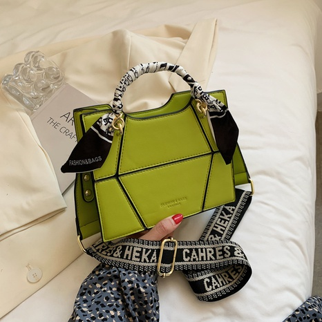 wholesale geometric pattern silk scarf handle one-shoulder small square bag nihaojewelry  NHGA390538's discount tags