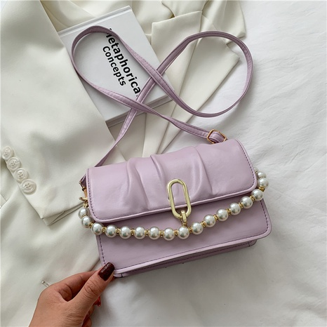 wholesale pearl chain portable messenger saddle bag nihaojewelry  NHXC390590's discount tags