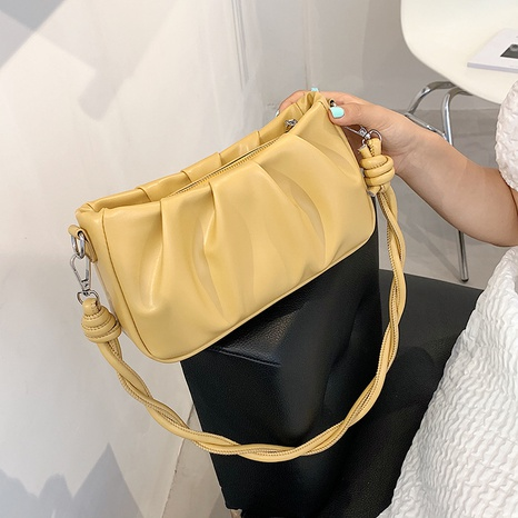wholesale solid color shoulder underarm square saddle bag nihaojewelry  NHLH390598's discount tags