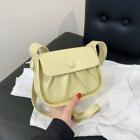 wholesale solid color shoulder crossbody saddle bag nihaojewelry  NHLH390601's discount tags