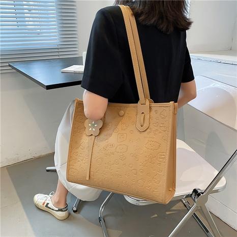 wholesale large-capacity cartoon pattern embossed shoulder bag nihaojewelry  NHLH390629's discount tags