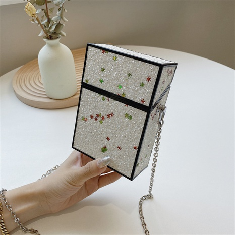 wholesale sequin messenger chain mini small case bag nihaojewelry  NHLH390635's discount tags