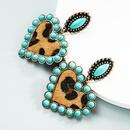 wholesale jewelry bohemia heartshaped earrings leather earrings Nihaojewelry NHLN391590