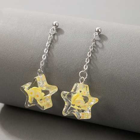 wholesale jewelry three-dimensional five-pointed star earrings nihaojewelry  NHGY391587's discount tags