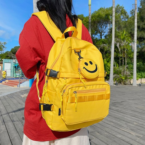 wholesale large-capacity candy color smiley face pendant backpack nihaojewelry  NHGA390526's discount tags