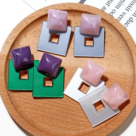 Großhandel Acryl geometrische quadratische hohle unregelmäßige Ohrringe Nihaojewelry NHHER390640's discount tags
