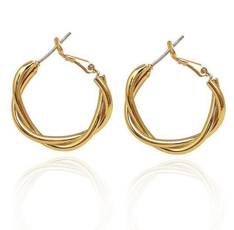 Großhandel Mode geometrische Twist Ohrringe Nihaojewelry NHHER390649's discount tags