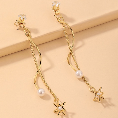 Großhandel Schmuck Perlenstern Quaste Ohrringe Nihaojewelry NHNJ390666's discount tags