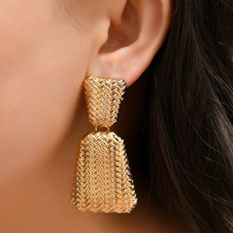 Großhandel Schmuck Trapezförmige geometrische Muster Ohrringe Nihaojewelry NHYAO390679's discount tags