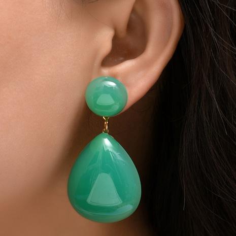 Großhandel Schmuck tropfenförmige Acrylohrringe Nihaojewelry NHYAO390682's discount tags