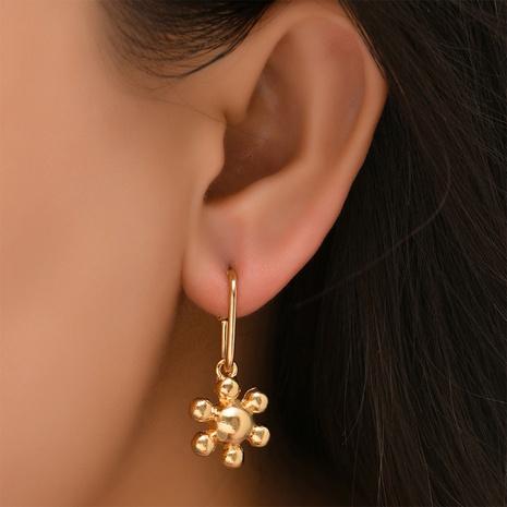 Großhandel Schmuck einfache lange blumenförmige Ohrringe Nihaojewelry NHYAO390685's discount tags