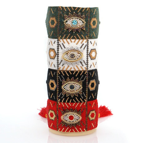 mal de ojo Miyuki cuentas pulseras de cuerpo ancho tejidas a mano joyería al por mayor Nihaojewelry NHBDB390705's discount tags