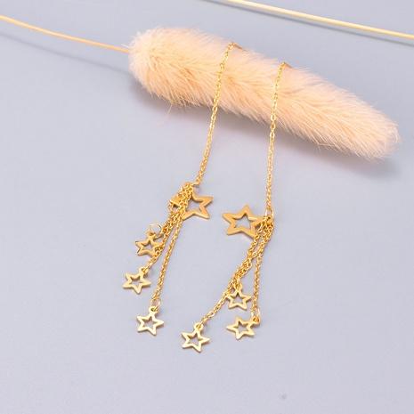 Großhandel Schmuck Sterne lange Quasten Titanstahl Ohrringe Nihaojewelry NHAB390767's discount tags
