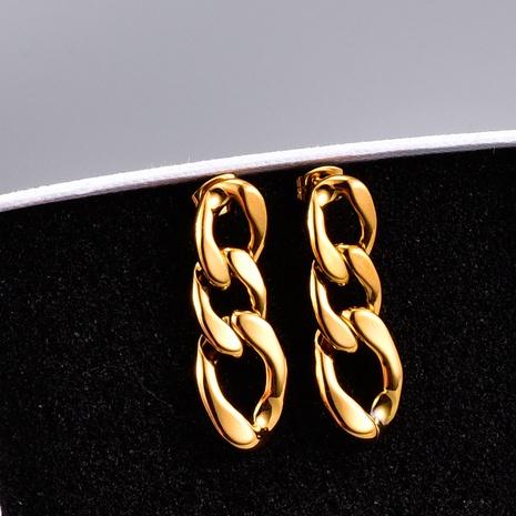 Großhandel Schmuck Retro Kette Titan vergoldet Ohrringe Nihaojewelry NHAB390770's discount tags