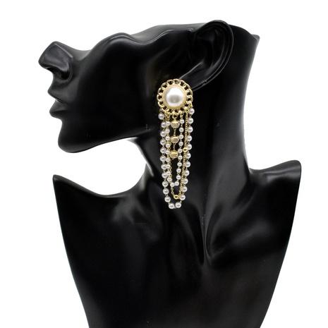 Großhandel Schmuck Wasserfall Quaste Perlenohrringe Nihaojewelry NHNT391089's discount tags