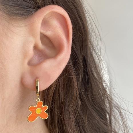 Großhandel Schmuck Macaron Farbe Blumenelement Ohrringe Nihaojewelry NHJIF391133's discount tags