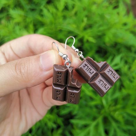 wholesale jewelry chocolate shape acrylic earrings Nihaojewelry NHYIA391197's discount tags
