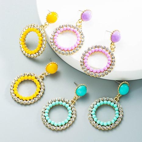 Großhandel Schmuck Blumen Reisperlen Ohrringe Nihaojewelry NHLN391299's discount tags