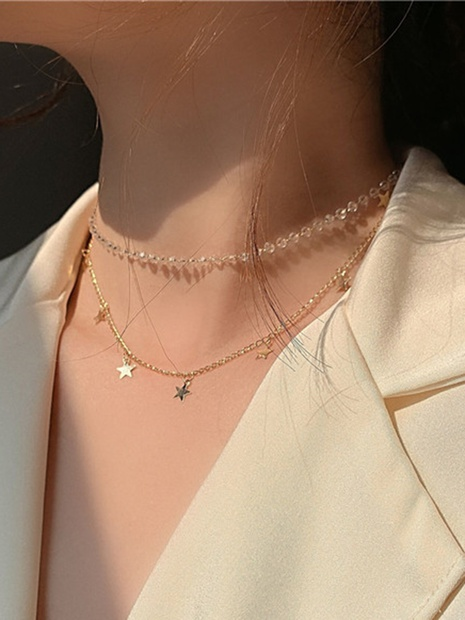 Wholesale Simple Star Pendant Multi-layer Necklace Nihaojewelry  NHGY391526's discount tags