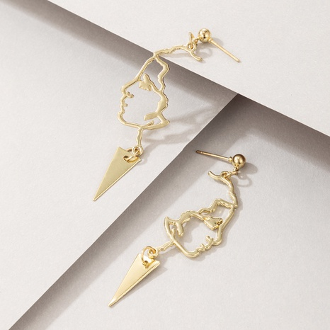 wholesale new fashion metal face earrings Nihaojewelry  NHGY391489's discount tags