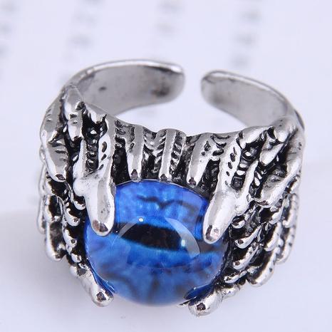 Al por mayor joyería de metal anillo de apertura de plumas de ojo de diablo Nihaojewelry NHSC391478's discount tags