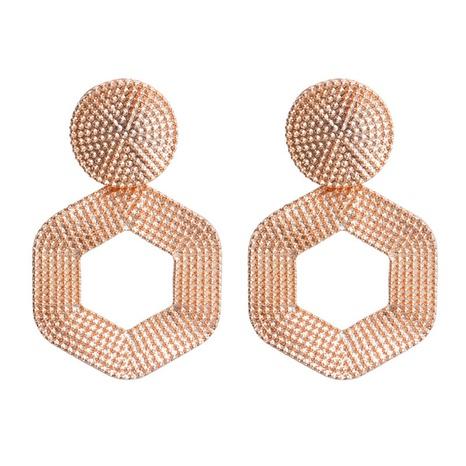 metal hexagonal geometric exaggerated earrings wholesale jewelry Nihaojewelry NHHER391712's discount tags