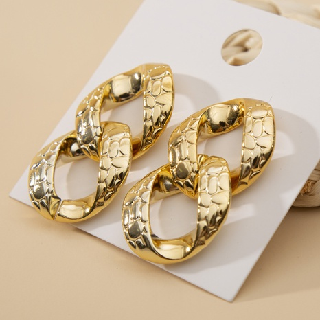 Geometric chain Acrylic exaggerated earrings wholesale jewelry Nihaojewelry NHHER391714's discount tags
