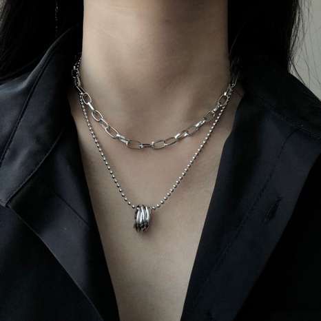 wholesale jewelry multi-layer ring pendant necklace nihaojewelry  NHHER391736's discount tags