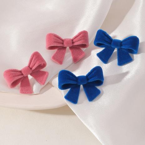 velvet plush bow cute earrings wholesale jewelry Nihaojewelry NHNZ391758's discount tags