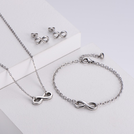 Figure 8 Pendant Necklace Bracelet Earrings Sets wholesale Nihaojewelry NHON391966's discount tags