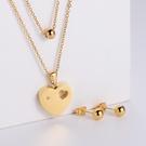 NHON1817483-【Golden】Earrings-+-Pendant