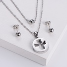 NHON1817500-【Silver】Earrings-+-Pendant