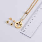 NHON1817501-【Golden】Earrings-+-Pendant
