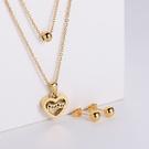 NHON1817497-【Golden】Earrings-+-Pendant
