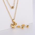 NHON1817502-【Golden】Earrings-+-Pendant