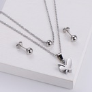NHON1817503-【Steel-Color】Earrings-+-Pendant
