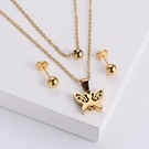 NHON1817507-【Golden】Earrings-+-Pendant