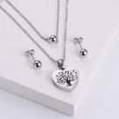NHON1817512-【Steel-Color】Earrings-+-Pendant