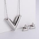 NHON1817514-【Steel-Color】Earrings-+-Pendant