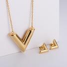 NHON1817515-【Golden】Earrings-+-Pendant