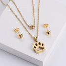 NHON1817519-【Golden】Earrings-+-Pendant