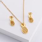 NHON1817530-【Golden】Earrings-+-Pendant
