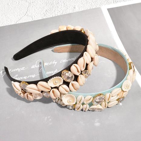 wholesale fashion new shell pearl diamond headband Nihaojewelry  NHAQ392081's discount tags