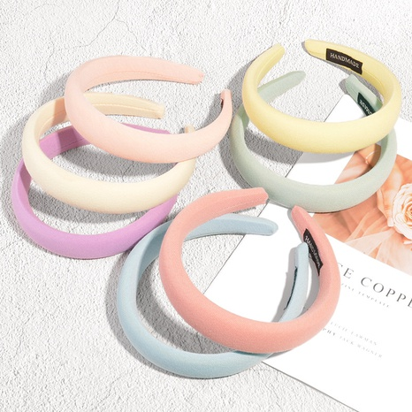 Großhandel neue Art reiner Farbschwamm breites Stirnband Nihaojewelry NHAQ392091's discount tags